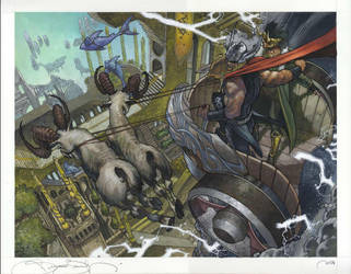 Thor double page spread by simonebianchi