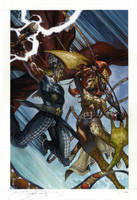 Thor and loki : the Tenth Realm painted cover by simonebianchi