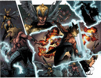 Thor and loki : the Tenth Realm double page by simonebianchi