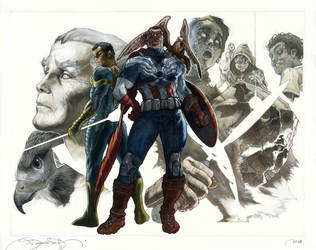ALL NEW Captain America covers by simonebianchi