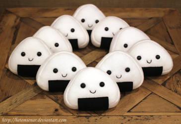Onigiri (Riceball) Plushies ~FOR SALE~ by HetemSenar