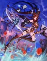 Ninja circus by elsevilla