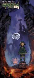 Greenboy and Horrible monster by elsevilla