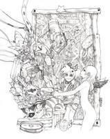 Lovely saturation sketch by elsevilla