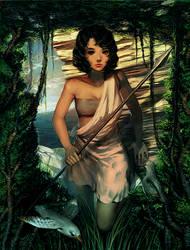 Island warrior girl by xamxam