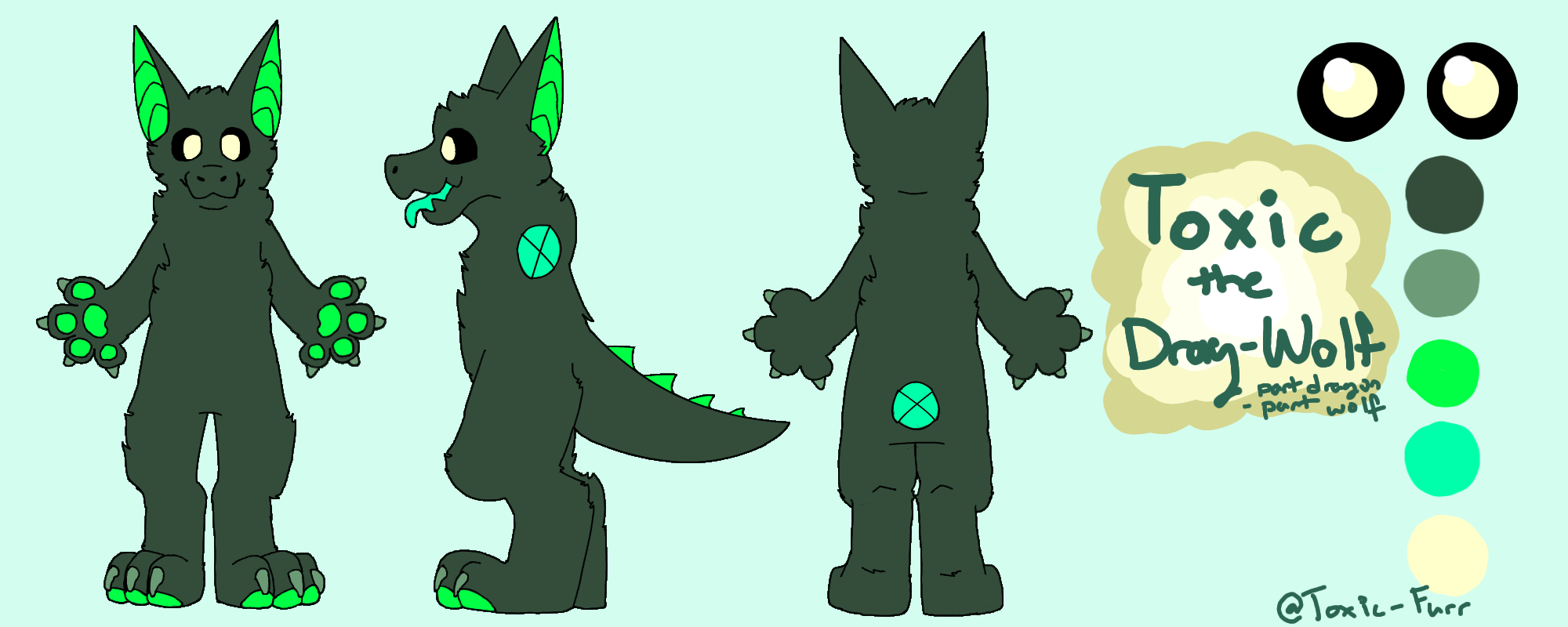 Toxic's Ref Sheet (Anthro) by Toxic-Furr
