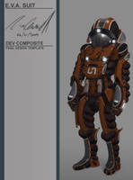 E.V.A. suit concept composite. by DESTRAUDO