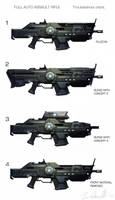 Assault rifle variations by DESTRAUDO