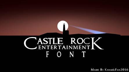 Castle Rock Logo Font by khamilfan2016