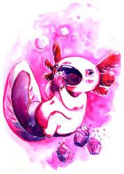 axolotl gourmand by Pendalune