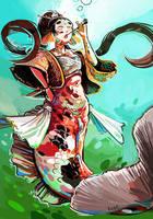 Koi mermaid by Pendalune