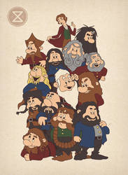 And The Thirteen Dwarfs by thesleepingsky