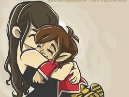 Someone Needs a Hug.... by mysketchbook