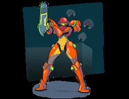 Metroid, from the game Metroid by GardedroidsHotArt