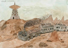The road train of Wastelands by mikopol