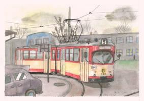 Tram leaving railway station 2 by mikopol