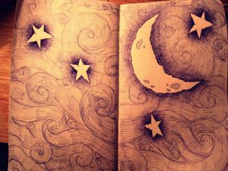 night sky by thisbeautifullmess