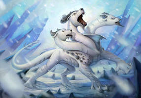 Winter roar  by CindyWorks