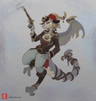 Pirate dragoness by CindyWorks