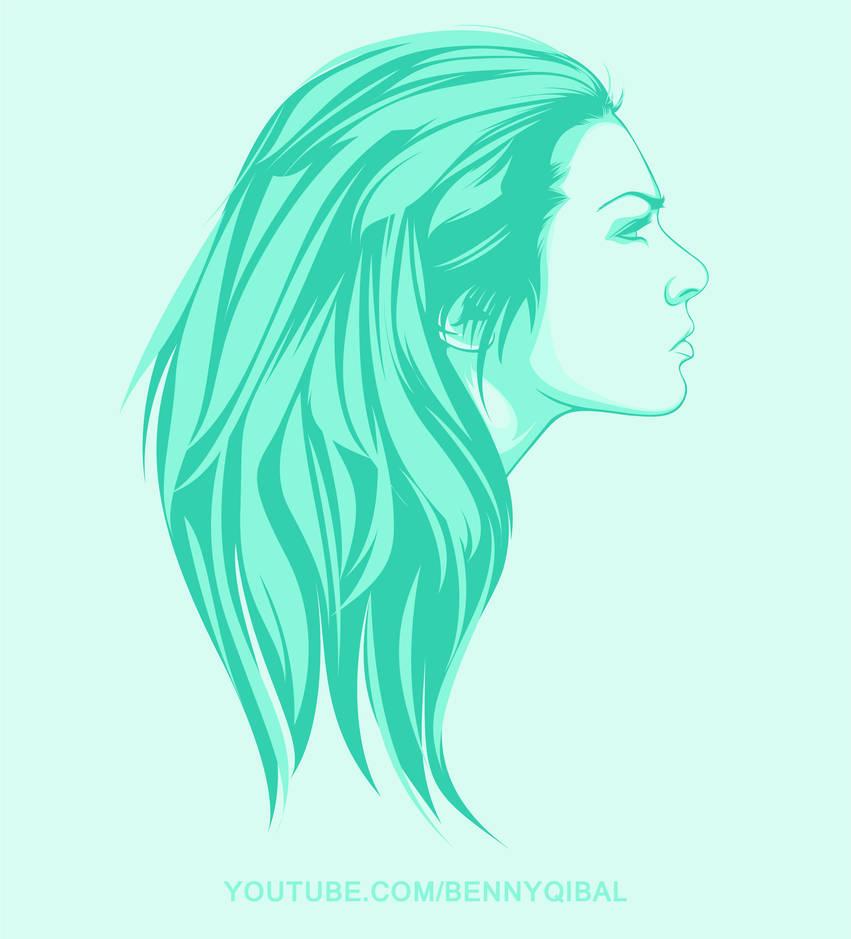 Vector Portrait In Adobe Illustrator by bennyqibal