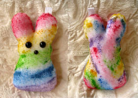 Rainbow Candy Peep Plush by P-isfor-Plushes