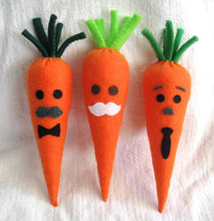 Carrot Patch - The mustache brigade by P-isfor-Plushes