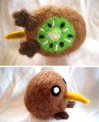 Kiwi Bird Needle Felt by P-isfor-Plushes