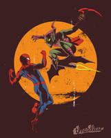Spider-man vs Green Goblin by YannickBouchard