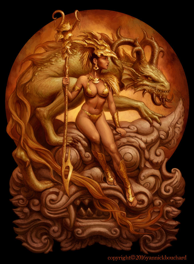 Dragon Priestess by YannickBouchard