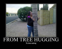 Tree hugging by kittygoth1