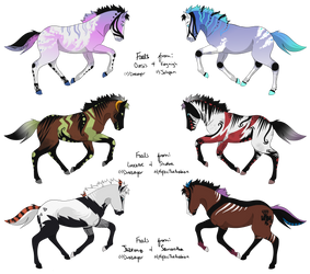 Foals for Jahpan and MysticTheArabian by Drasayer