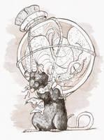 Inktober 2017 Day 3 'Poison' by Linoleumas