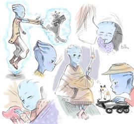Blue baby doodle dump by tilhe