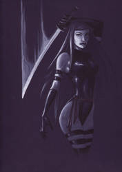 Psylocke Commission by MicahJGunnell