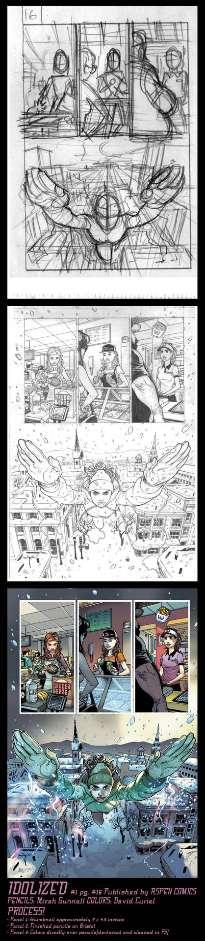 Idolized 1 pg 16 FULL PROCESS by MicahJGunnell