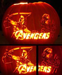 Avengers Pumpkin - Master Assassins by musogato