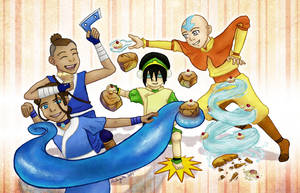 Avatar Cupcake Party by musogato