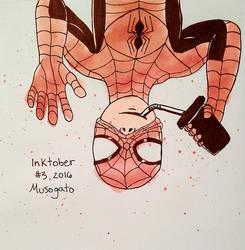 Inktober 2016: Spider-Man by musogato