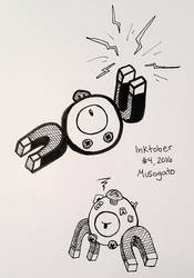 Inktober 2016: Magnemite by musogato