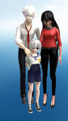 [MMD x YS] Family portrait ! by PawinaChan