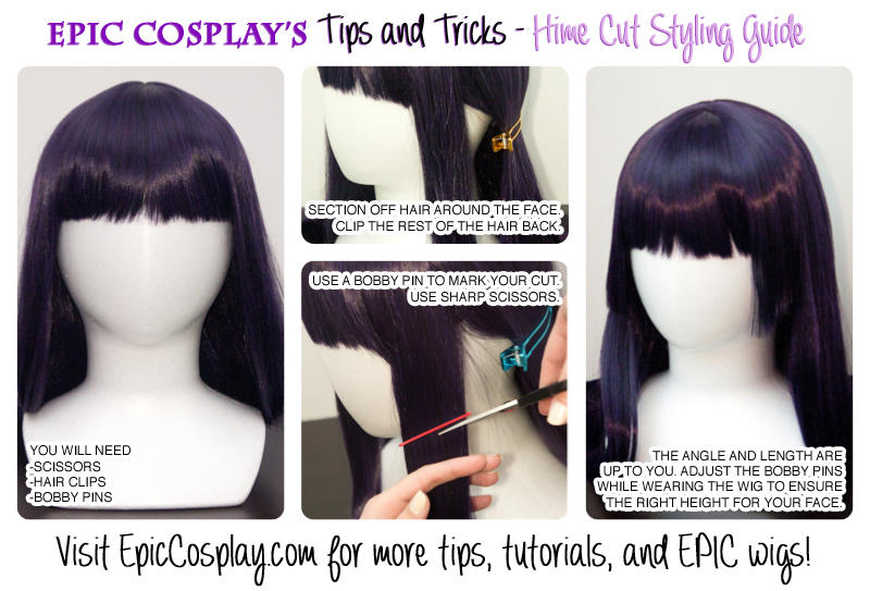 Tips And Tricks Hime Cut Styling Guide By Epiccosplaywigs On