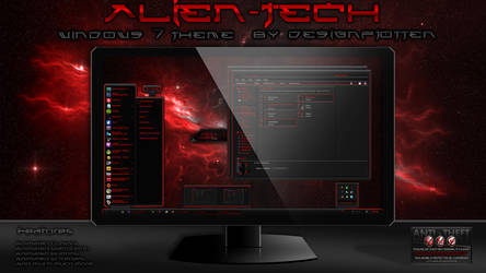 Alien-Tech Windows 7 Theme by Designfjotten