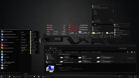 Alienware Special Edition DARK Windows 7 Theme by Designfjotten