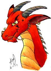 Colored Dragon by HuntressGuya