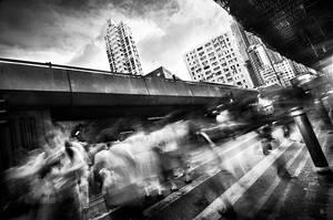 Hong Kong human flow by romainjl