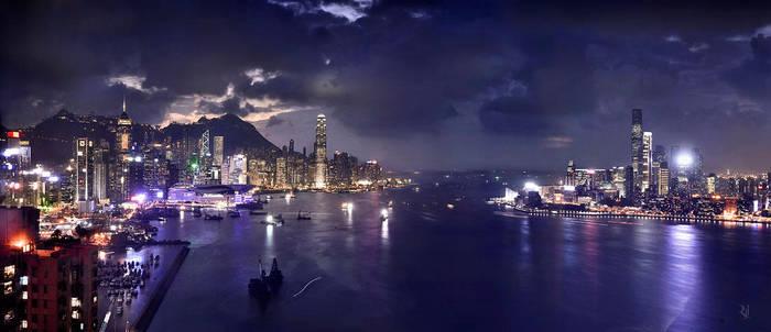 Hong Kong Victoria Harbor by romainjl