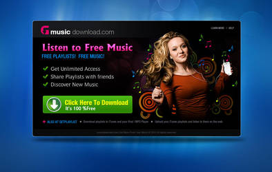 Free Music Download template by designstub