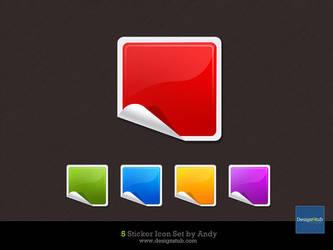 Glossy Sticker Icon by designstub