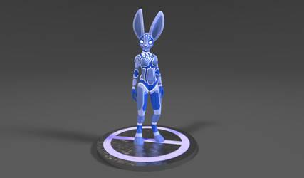 Holographic bunny! by RaiKitamatsu