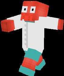 Zoidberg Minecraft skin by RaiKitamatsu